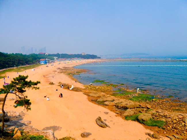 Qingdao is also famous for its temperate climate and beautiful beaches.